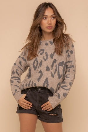 Bianca Leopard Sweater