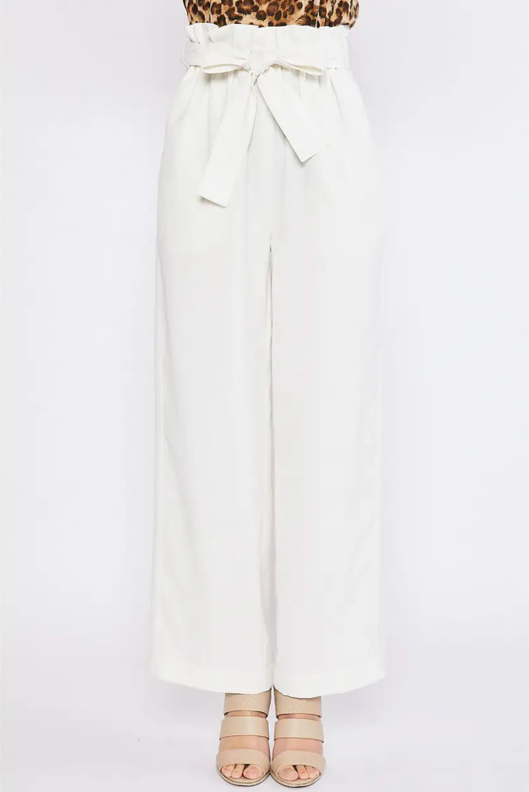 Paperbag  High Waist Wide Leg Pant