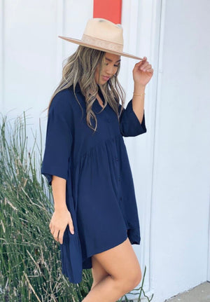 Smooth Sailing Button Up Tunic
