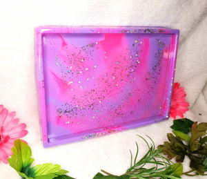 10x7 pink/purple resin tray