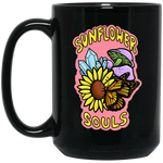 Sunflower Souls Mug (Black) NEW LOGO