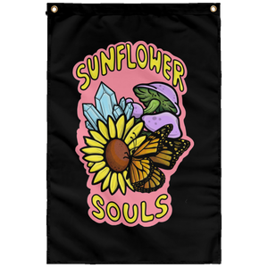 Sunflower Souls Wall Flag