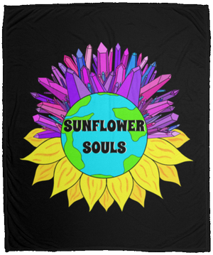 Sunflower Souls/Crystal World Fleece Blanket - 50x60
