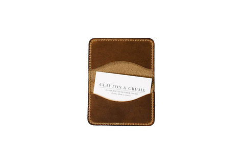 Clayton and Crume Horween Leather Fold Handmade Wallet