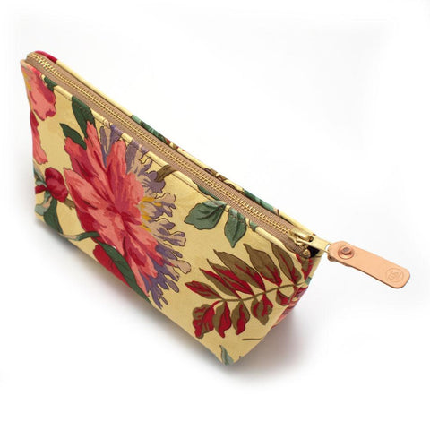 1960s Wild Poppies Floral Cosmetic Makeup Bag - Makers Workshop