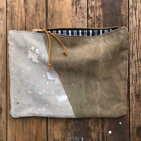 Den and Delve Makers Workshop Vintage Repurposed Fabric Pouch