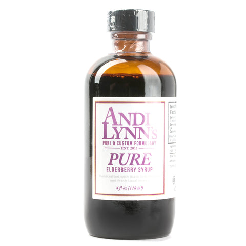Andi Lynn's Handcrafted Pure Black Elderberry Syrup 4 oz - Makers Workshop