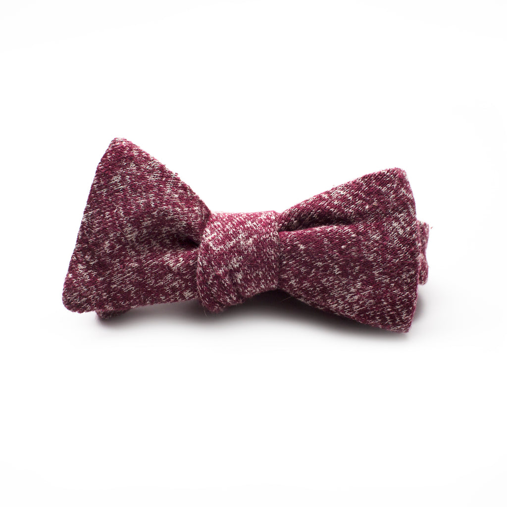 Kathrine Zeren Plum and White Handmade Bow Tie