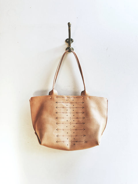 Arden and James Etched Vegetable Tanned Leather Arden Tote