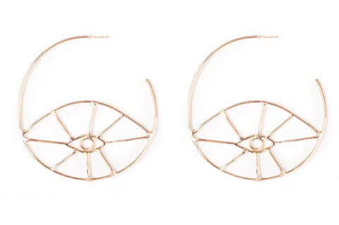 Fortuna Eye Hoop Earring