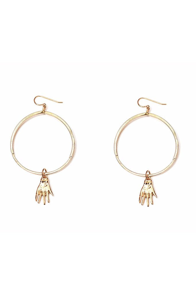 Nina Berenato Yellow Gold Handmade Gatekeeper Earrings