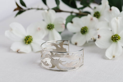 Geoflora Silver Foliage Cuff - Makers Workshop