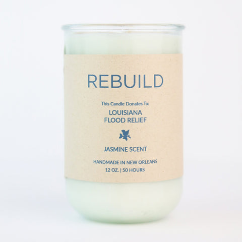 Rebuild Jasmine Candle: Candles for Good- Louisiana Flood Relief - Makers Workshop