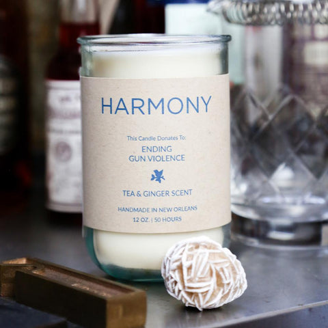 Harmony Tea & Ginger Candle: Candles for Good - Ending Gun Violence - Makers Workshop