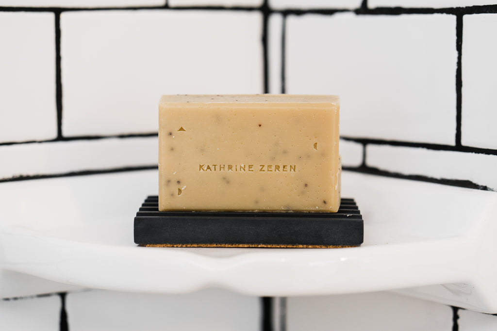 Our favorite bath time essential! All natural soap by O'Douds for maker, Kathrine Zeren. Sage & Lavender bar and  Cedar & Cypress. Made using high quality essential oils. Gentle enough for sensitive skin.