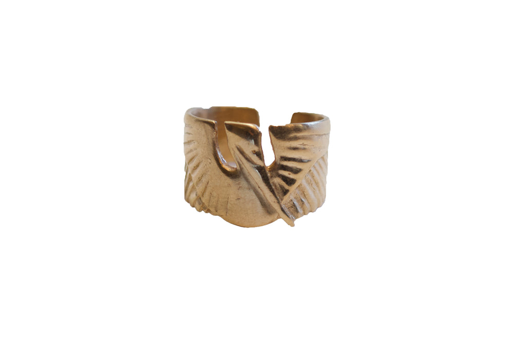 Mimosa Handcrafted Pelican Cuff Bronze Ring