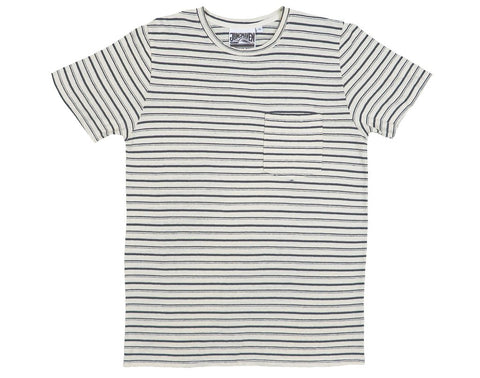 Jungmaven Men's Yarn Dyed Stripe Short Sleeve Pocket Tee