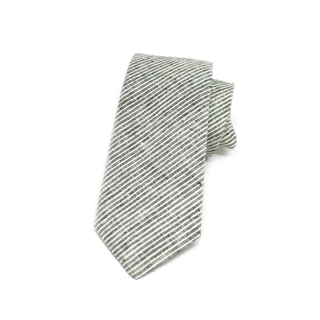 Kathrine Zeren Grey and White Handmade Necktie