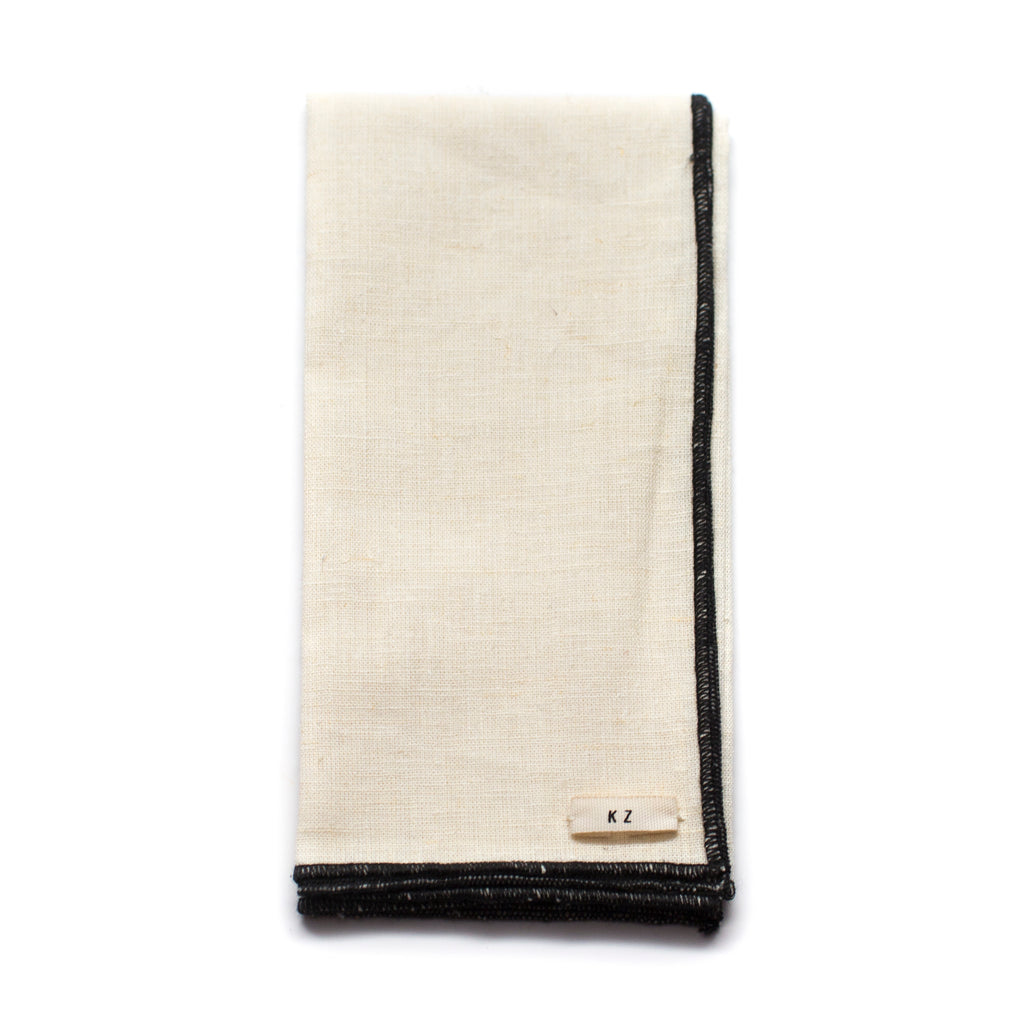 Kathrine Zeren Organic Cotton Handmade Pocket Square