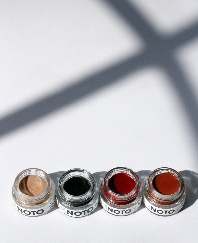 NOTO's 4 in 1 Color and Glow set featuring Ono Ono, Oscillate, Genet + Hydra Highlighter