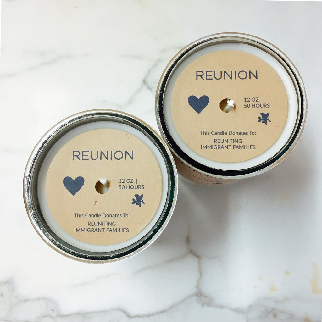 Reunion Basil, Sage & Mint Candle: Candles for Good - Reuniting Immigrant Families  Makers Workshop