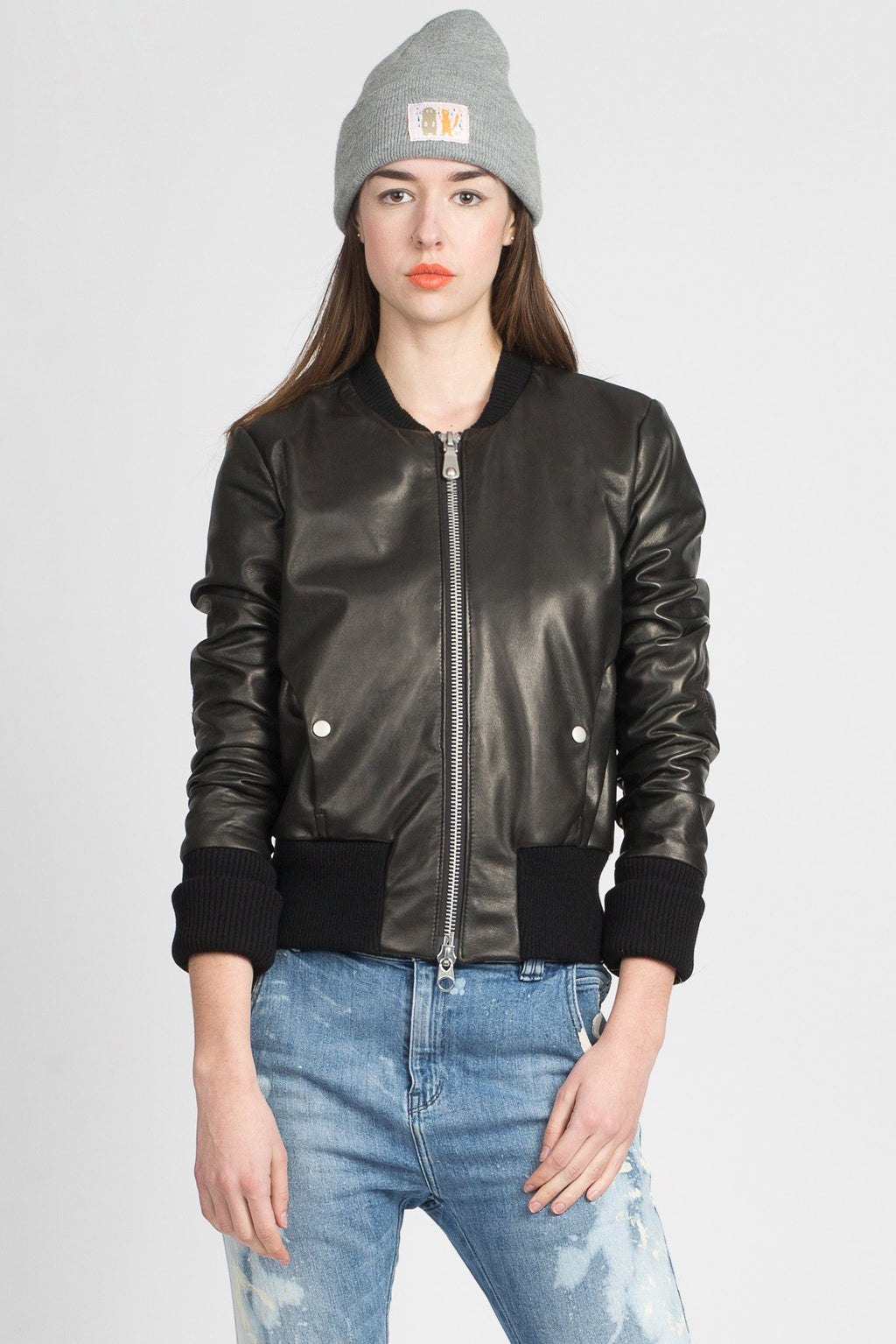 Snacku New Jersey Leather Bomber Jacket Makers Workshop