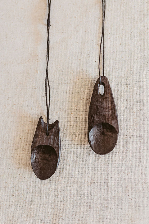 Sunhouse Craft Wooden Wooden Necklace Reusable Talisman Spoon - Makers Workshop