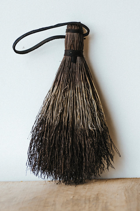 Sunhouse Craft Tiger Tail Small Broom w/ Leather - Makers Workshop