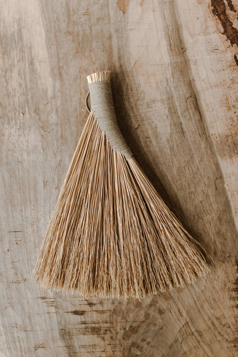 Sunhouse Craft Shaker Turkey Wing Broom w/ Hemp Cord - Makers Workshop