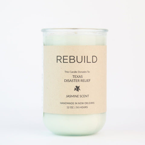 This soothing Jasmine Scent raises funds for Texas Flood Relief needed from Hurricane Harvey. We donate to Heart to Heart International. Goods that Matter Makers Workshop