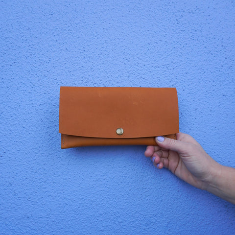 Handmade Leather Tan Minimalist Wallet 011 - Makers Workshop