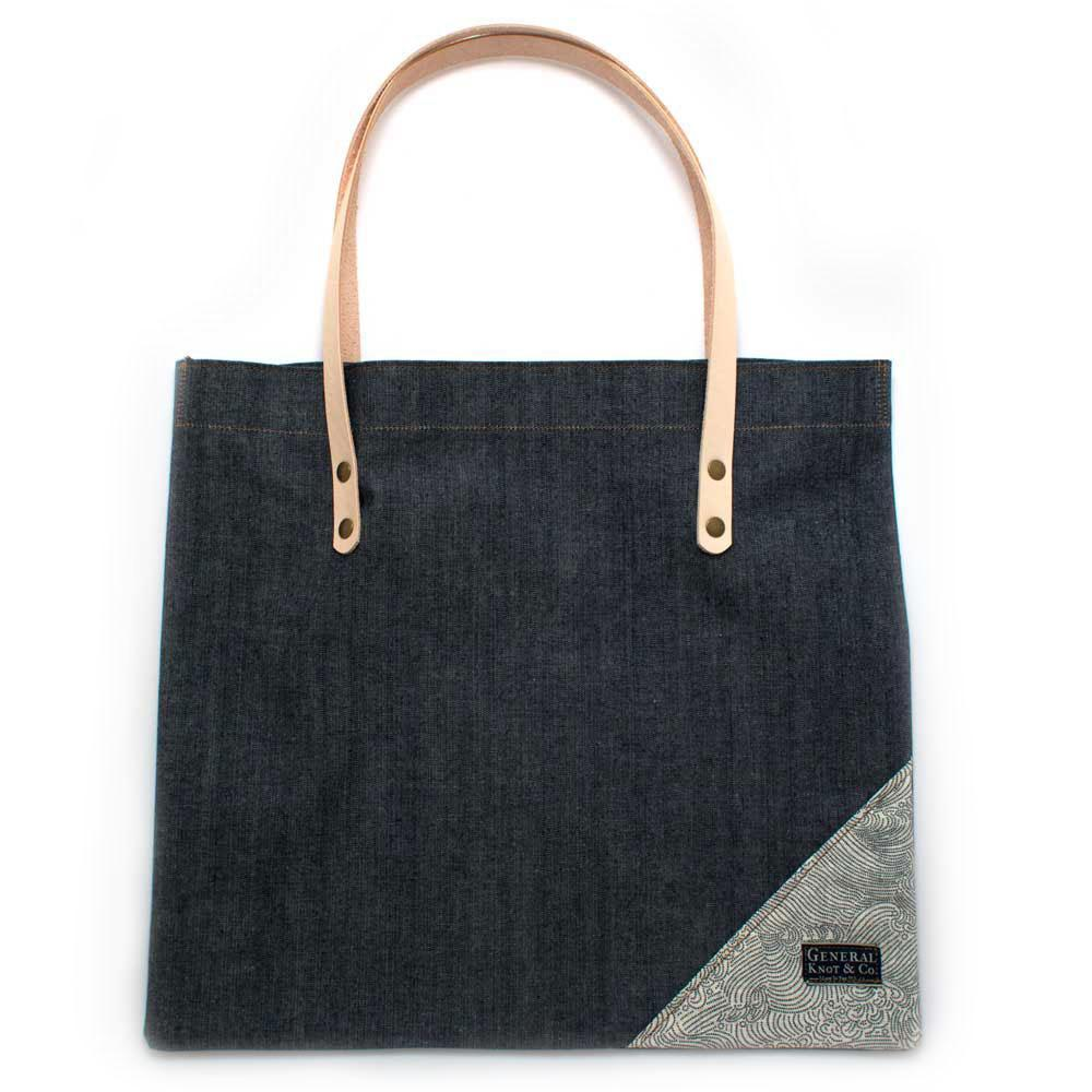 Bedford Denim Shopper- Ivory Tidalwave
