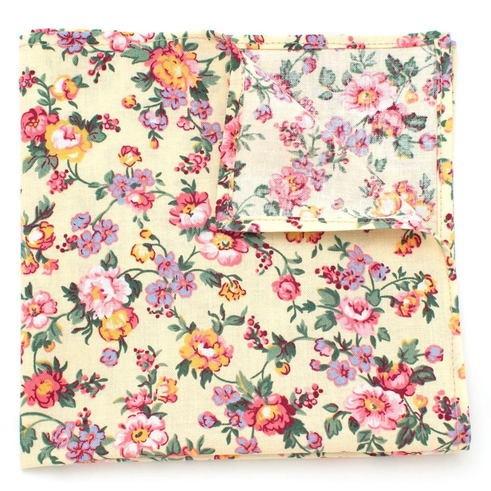 Butter Rose Pocket Square