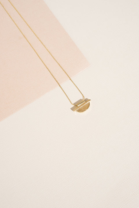 Swim to the Moon Hand cast recycled solid brass Ceres Necklace