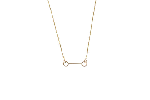 "Ellen Mote Minimal 17""14k gold fill chain with 14k gold fill pendant."