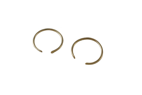 Ellen Mote Jewelry 14k gold fill cuff rings with hammered ends.