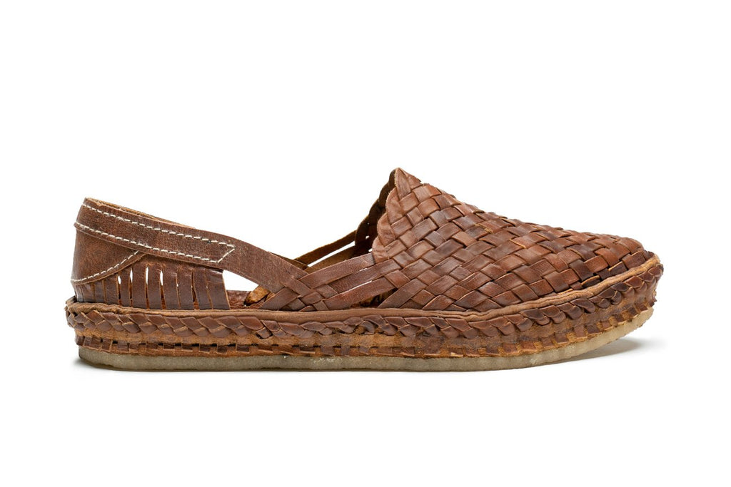 Men's Woven Shoe / Oiled Leather