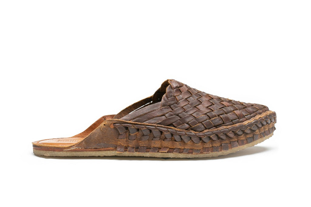 Women's Woven Slide / Oiled Leather