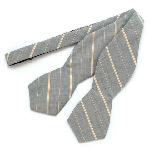 Mill Stripe Diamond Point Bow Tie
