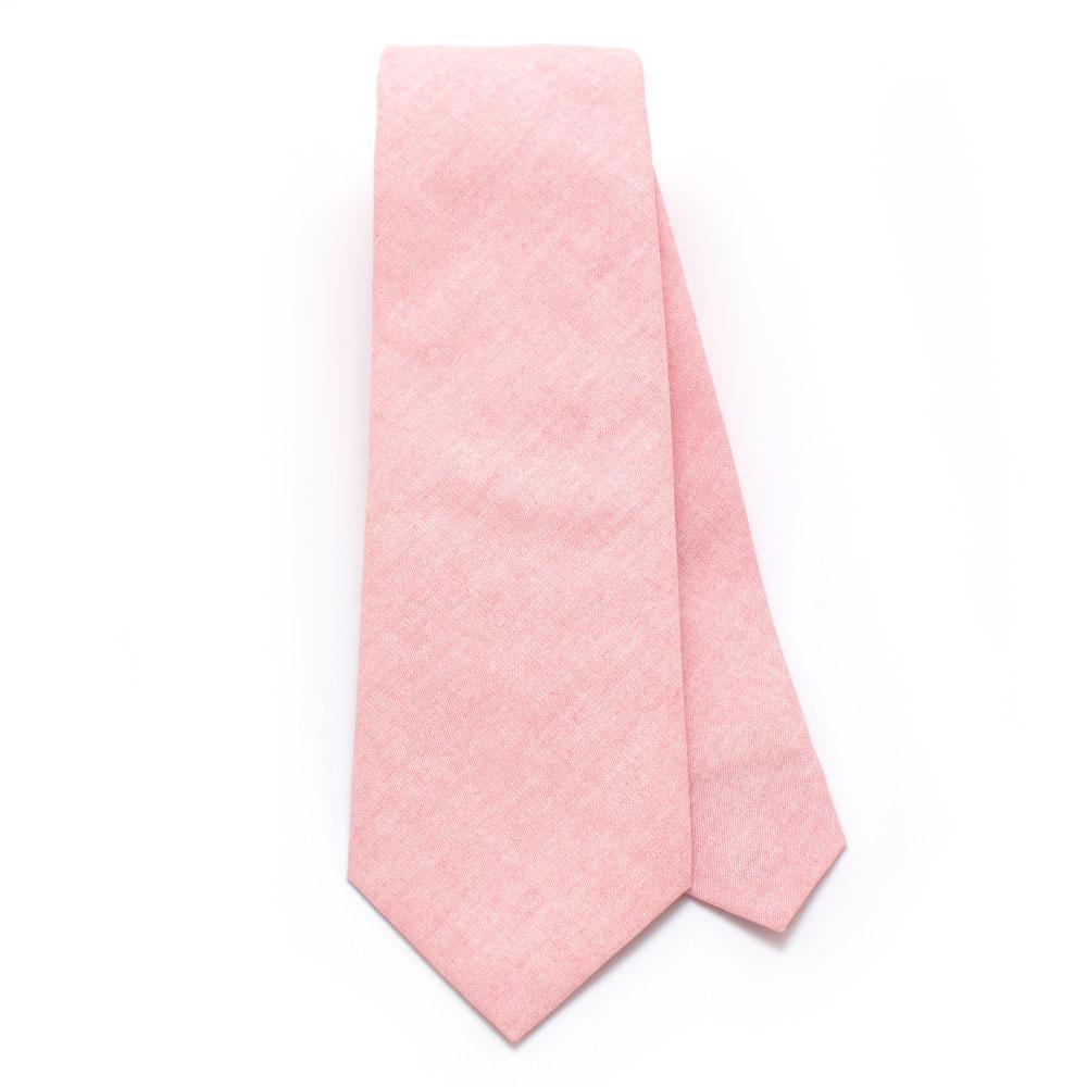 Pink Sun Washed Chambray Necktie - Makers Workshop
