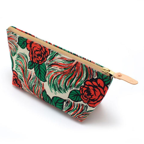 Puebla Rose Floral Cosmetic Makeup Bag - Makers Workshop