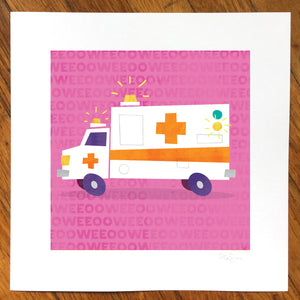 """Ambulance"" Art Print"
