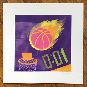 """Basketball"" Art Print"