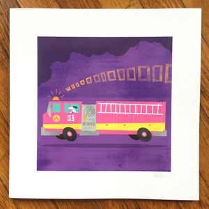 """Fire Engine"" Art Print"