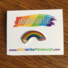 Rainbow Writers enamal pins