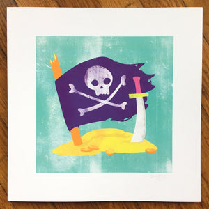 """Pirates"" Art Print"