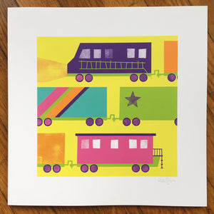 """Trains"" Art Print"