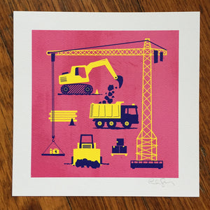 """Construction"" Art Print"
