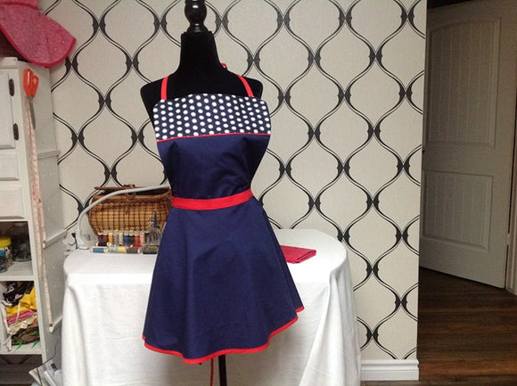 APRON - PERFECT IN NAVY - LOCAL NEWFOUNDLAND TALENT (3-6 Bus./Day Delivery)