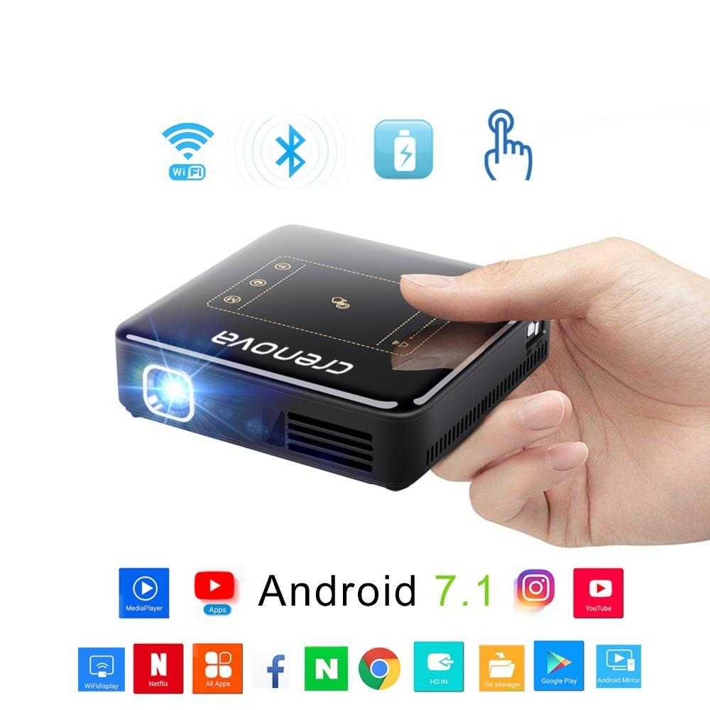 DLP Projector - Full HD 4K With Android 7.1 Bluetooth 4.0 Mini Projector For Home Theater - BarnKey.com